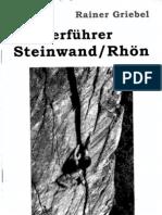 Kletterfuehrer Steinwand Rhön