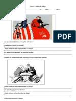 Leitura e análise de Charge-guerra fria