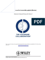 Antibiotics for Irreverible Pulpitis Cochrane