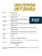LegislativeCalendar Week Beginning 9.3.13 (Through 9.13.13)
