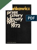 Melchior Wańkowicz - Przez cztery klimaty 1912 – 1972 – 1972 (zorg)
