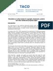 TACD Resolution on IP Enforcement June 2009