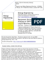 Equipment Sizing and Economic Analysis of CHP Natural Gas Liquid Recovery Systems