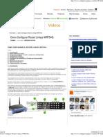 Como Configurar Router Linksys WRT54G.