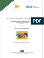 Informe Resumen Educ TIC 14 Paises Insight INTEF 2012