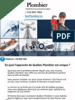 Service de Plomberie Ville de Québec (418) 800-7866