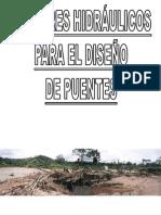 FACTORES HIDRÁULICOS PARA EL DISEÑO DE PUENTES