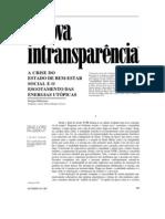 A nova intransparência (Habermas)