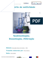 Relatório da actividade da sedimentação