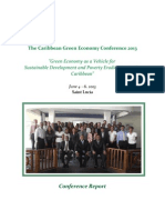 The Caribbean Green Economy Conference 2013