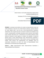 Responsabilidade Social Empresarial e Desenvolvimento Sustentável discutindo conceitos e ações
