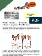 Cidade vizinha a Queimadas terá médico cubano do programa 'Mais Médicos'