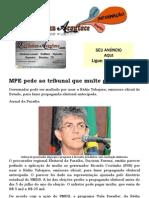 MPE Pede Ao Tribunal Que Multe Governador