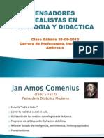Pedagogia - Clase 31-08-2013 Pensadores Idealistas