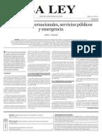 Arbitrajes internacionales, servicios públicos - LL-28.08.2013.