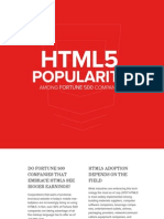 HTML5 Popularity Among Fortune500 Companies (July 2013, by INCORE Digital Agency)