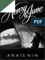 Henry y June - Nin, Anais