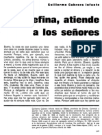 Cabrera Infante, Guillermo-Josefina, atiende a los señores