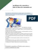 Solucionar problemas de conexión a internet usando la línea de comandos en Windows