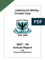 ECSCC Annual Report 2008