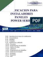 Certificacion Instaladores Paneles Power Series