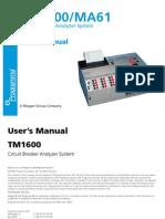 TM 1600 manual