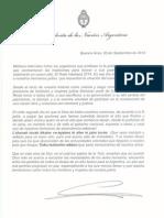 Carta de CFK