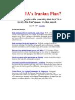 The CIA -- and IRAN's Recent Prez Election.