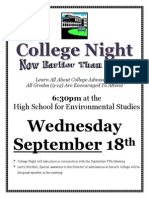 2013 College Night