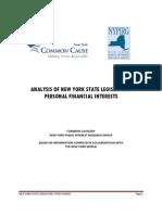 Analysis of NYS Legislators Personal Financial Interests 19928 0
