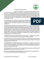 Erklärung des LV Berlin Gartenfreunde e.V 20130902