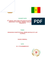 Concept Note - Constitutionalism and Rule of Law in Africa