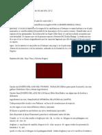 Segunda parte de La Letra de Ifá del Año 2012