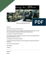 Questions - Satsang - 06-09-2013