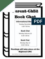 Parent Child Book Chat Flier 2013-2014