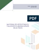 Material de apoyo para la elaboración de reactivos 2013