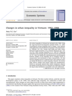 Economics System - Changes in urban inequality in Vietnam 1992–1998