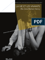 Relire Michel Henry-La Vie Et Les Vivants