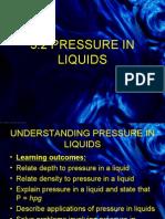 undersatanding pressure in liquids