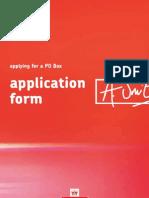 P6431 POBox Application Form April 2013