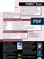 TOEFL Downloadable Sheet