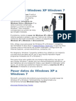 Actualizar Windows XP Windows 7