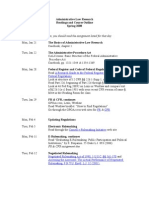 Readings and Course Outline