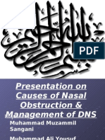 Presentation on Nasal Obstruction