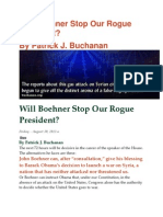 Will Boehner Stop Our Rogue President