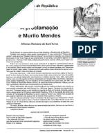 A proclamação e Murilo Mendes  Affonso Romano de Sant'Anna