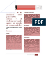 Evaluación de la asociación entre periodontitis crónica y el síndrome coronario agudo