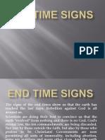 End Time Signs Presentation