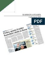 RASSEGNA Massimo Caputi Feidos - Ricapitalizzazione Prelios