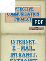 Internet,E-Mails, Intranet ,Extranet